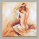 halpa Öljymaalaukset-Hang-Painted öljymaalaus Maalattu - Nude Moderni Kangas