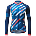 cheap Cycling Jerseys-Mysenlan Women's Long Sleeve Cycling Jersey - Blue Stripe Bike Jersey Top, Breathable Quick Dry Polyester / Expert / Italy Imported Ink / Breathable Armpits