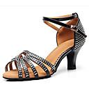 cheap Necklaces-Women's Latin Shoes PU(Polyurethane) Sneaker Slim High Heel Dance Shoes Black