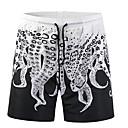 abordables Auriculares-Hombre Básico Shorts Pantalones - Animal Estampado Negro / Verano / Playa