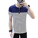 abordables Luces de Techo-Hombre Camiseta, Escote Redondo A Rayas / Manga Corta