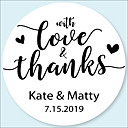 cheap Stickers, Labels & Tags-Wedding Stickers, Labels & Tags - 48 pcs Circular Stickers / Envelope Sticker All Seasons