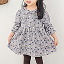 זול אוברולים טריים לתינוקות-שמלה שרוול ארוך פרחוני בנות תִינוֹק