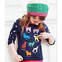 tanie Zestawy ubrań dla dziewczynek-Dzieci / Brzdąc Dla dziewczynek Podstawowy Sport Pies Nadruk Haftowane Długi rękaw Bawełna T-shirt
