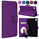 cheap Android Tablets-Case For Sony Xperia L1 Card Holder / Flip / Pattern Full Body Cases Solid Colored / Butterfly Hard PU Leather for Sony Xperia L1