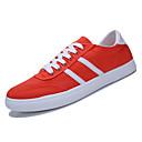 tanie Adidasy męskie-Męskie Komfortowe buty Płótno / PU Jesień Adidasy Wielokolorowa Biały / Pomarańczowy / Niebieski