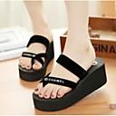 povoljno Ženske sandale-Žene Cipele PU Ljeto Udobne cipele Papuče i japanke Creepersice Crn / Fuksija