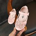 povoljno Cipele za djevojčice-Djevojčice Cipele PU Proljeće ljeto Udobne cipele / Obuća za male djeveruše Ravne cipele Hodanje Cvijet / Mat selotejp za Djeca Crn / Bež / Pink