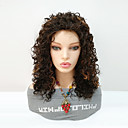 cheap Synthetic Capless Wigs-Synthetic Wig Women's Curly Black / Blonde Asymmetrical Synthetic Hair Women / Highlighted / Balayage Hair / For Black Women Black / Blonde Wig Mid Length Capless Black / Dark Auburn