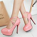 povoljno Ženske sandale-Žene Cipele na petu Stiletto potpetica PU Udobne cipele Proljeće Obala / Crn / Pink / Dnevno / EU36