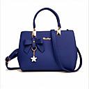 cheap Totes-Women's Bags PU(Polyurethane) Tote Zipper Wine / Khaki / Royal Blue