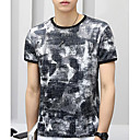 cheap Memory Cards-Men's Street chic T-shirt - Camouflage Round Neck / Short Sleeve