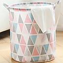 billige Pude sæt-Bomuld / Polyester Rund geometrisk mønster Hjem Organisation, 1pc Vasketøjskurv