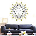 ieftine Ceasuri de Perete-Modern / Contemporan sticlă / Plastic & Metal Rotund Interior / Exterior,Baterii AA alimentate