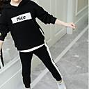 ieftine Rochii Fete-Copii Fete De Bază Imprimeu Manșon Lung Bumbac Set Îmbrăcăminte