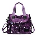 cheap Totes-Women's Bags Nylon Tote Zipper Geometric Black / Gray / Purple