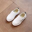 baratos Conjuntos para Meninos-Para Meninos Sapatos Couro Ecológico Primavera / Outono Conforto Mocassins e Slip-Ons para Branco / Preto