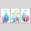 cheap Abstract Paintings-Print Stretched Canvas - Still Life Modern Three Panels