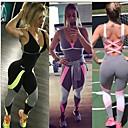 hesapli Fitness, Koşu ve Yoga Kıyafetleri-Kadın's Derin V Haç Desenli Tracksuit Egzersiz tulumu Siyah Gri Spor Dalları Zıt Renkli Yoga Koşma Fitness Kolsuz Aktif Giyim Nefes Alabilir Nem Emici Hızlı Kuruma İtişli Mikro-Esnek
