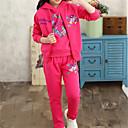 זול סטים של ביגוד לבנות-סט של בגדים כותנה שרוול ארוך דפוס סרט מצוייר בנות ילדים