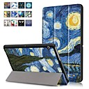 cheap Cellphone Case-Case For Huawei MediaPad T3 10(AGS-W09, AGS-L09, AGS-L03) with Stand / Magnetic Full Body Cases Oil Painting Hard PU Leather for Huawei MediaPad T3 10(AGS-W09, AGS-L09, AGS-L03)