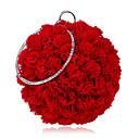 זול תיקי ערב וקלאצ'ים-בגדי ריקוד נשים שקיות פּוֹלִיאֶסטֶר / סגסוגת תיק ערב פרח אודם / ורוד מסמיק / כחול נייבי