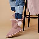 baratos Relógio Esportivo-Mulheres Sapatos Pele de Carneiro Inverno Conforto Botas Sem Salto Preto / Castanho Claro / Rosa Claro