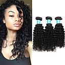 זול תוספות שיער בגוון טבעי-3 חבילות שיער ברזיאלי / שיער מבורמה Kinky Curly שיער בתולי טווה שיער אדם 8-30 אִינְטשׁ שוזרת שיער אנושי הוכן באמצעות מכונה איכות מעולה / בתולה100% טבעי תוספות שיער אדם בגדי ריקוד נשים