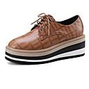 ieftine Sandale de Damă-Pentru femei Pantofi Piele de Oaie Primăvară / Toamnă Confortabili Oxfords Creepers Negru / Rosu / Camel