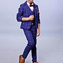 tanie Kurtki i płaszcze dla chłopców-Dzieci Dla chłopców Podstawowy Solidne kolory Długi rękaw Poliester Komplet odzieży Niebieski 90
