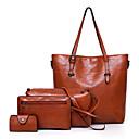 povoljno Komplet torbi-Žene Patent-zatvarač PU Bag Setovi Jedna barva 4 kom Crn / Braon / Plava
