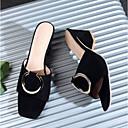 povoljno Ženske cipele bez vezica-Žene Cipele PU Ljeto Udobne cipele Sandale Kockasta potpetica Crn / Bijela / Pink