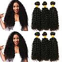 billige Ombré hårforlængelser-6 Bundler Peruviansk hår Kinky Curly 8A Menneskehår Menneskehår, Bølget Bundle Hair Én Pack Solution 8-28 inch Naturlig Farve Menneskehår Vævninger Ekstention Hot Salg Sej Menneskehår Extensions Alle