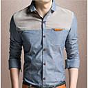abordables Botas de Hombre-Hombre Trabajo Camisa Bloques / Manga Larga