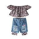 ieftine Set Îmbrăcăminte Bebeluși-Bebelus Fete Peteci Manșon scurt Set Îmbrăcăminte