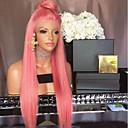 ieftine Peruci Păr Uman-Păr Remy Față din Dantelă Perucă Păr Peruvian Drept Perucă 130% Densitatea părului cu păr de păr Linia naturală de păr Noduri albite Pentru femei Lung Peruci Păr Uman beikashang