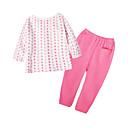 ieftine Set Îmbrăcăminte Bebeluși-Bebelus Fete Activ Imprimeu Manșon Lung Set Îmbrăcăminte