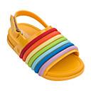 baratos Conjuntos para Meninos-Para Meninos / Para Meninas Sapatos PVC Verão Conforto Sandálias Velcro para Infantil Preto / Amarelo / Azul / Peep Toe / Listrado