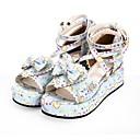 preiswerte Lolita Schuhware-Schuhe Niedlich Prinzessin Keilabsatz Schuhe Muster 8 cm CM Weiß / Schwarz Für PU Halloween Kostüme