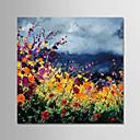 povoljno Ulja na platnu-Hang oslikana uljanim bojama Ručno oslikana - Cvjetni / Botanički Moderna Platno