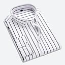 billige Skjorter-Klassisk krage Skjorte Herre - Stripet Forretning / Grunnleggende Arbeid / Langermet