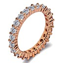 preiswerte Moderinge-Damen Stilvoll Bandring / Ring - Platiert, Rose Gold überzogen, Diamantimitate Gesegnet, Glauben Klassisch, Modisch 5 / 6 / 7 Silber / Rotgold Für Geschenk / Geburtstag