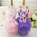 preiswerte Hundekleidung-Hunde / Katzen Kleider Hundekleidung Blume / Spitze Purpur / Rosa Poly /  Baumwollmischung Kostüm Für Haustiere Weiblich Kleider & Röcke / Blumen Stil