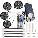 cheap Clutches & Evening Bags-KWB 4x5M Light Sets / RGB Strip Lights / Remote Controls 600 LEDs 5050 SMD 1 44Keys Remote Controller / 1x 1 To 4 Cable Connector / 1Set Mounting Bracket RGB Decorative / Linkable / Color Gradient
