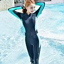 cheap Wetsuits, Diving Suits & Rash Guard Shirts-Women's Rash Guard Dive Skin Suit SPF30, UV Sun Protection, Quick Dry Polyester / Nylon Full Body Swimwear Beach Wear Diving Suit Patchwork Front Zip Swimming / Surfing / Snorkeling / Stretchy