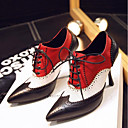 povoljno Ženske oksfordice-Žene Mekana koža Proljeće Udobne cipele Oksfordice Stiletto potpetica Krakova Toe Crn / Braon