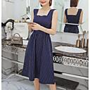 cheap Bracelets-Women's Daily Shift Dress Cotton Blue White M L XL