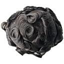 tanie Tupeciki-Męskie Włosy naturalne Tupeciki Falisty W 100% ręcznie wiązane Miękki