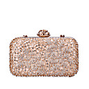 cheap Earrings-Women's Bags PU(Polyurethane) / Alloy Evening Bag Crystals / Hollow-out Black / Blushing Pink / Silver
