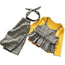 tanie Sukienki dla dziewczynek-Brzdąc Dla dziewczynek Podstawowy Solidne kolory Długi rękaw Poliester Komplet odzieży Rumiany róż 100